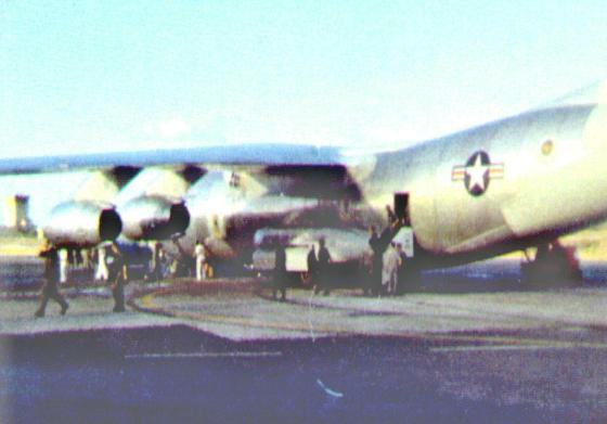 C-141 departing Fort Campbell to Vietnam